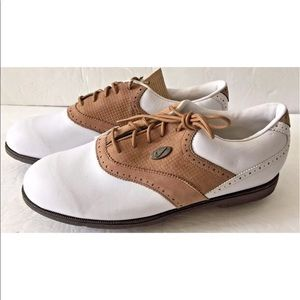 Nike Airliner White Brown Saddle Golf Shoes size 7